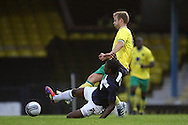 Picture by Paul Chesterton/Focus Images Ltd.  07904 640267.28/7/11 .Anthony Grant of Southend United and David Fox of Norwich City during a pre season friendly at Roots Hall Stadium, Southend...