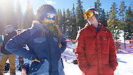 Chloe Kim, talking with Ben Boyd, an Australian coach,  training in the superpipe and free riding at Copper Mountain in Copper Mountain, CO. ©Brett Wilhelm/ESPN