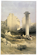 Karnak, Nov. 29th 1838'.; lithograph after watercolour by David Roberts (1796-1864) Scottish artist. Ancient Egypt Archaeology