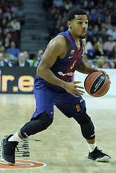December 14, 2017 - Madrid, Spain - Marc Garcia of FC Barcelona Lassa during the 2017/2018 Turkish Airlines Euroleague Regular Season Round 12 game between Real Madrid v FC Barcelona Lassa at Wizink Arena on December 14, 2017 in Madrid, Spain. (Credit Image: © Oscar Gonzalez/NurPhoto via ZUMA Press)
