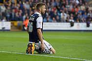 Mark Beevers of Millwall after they concede the equaliser during the Sky Bet League 1 Playoff Semi-final Leg Two at The Den, London<br /> Picture by Alan Stanford/Focus Images Ltd +44 7915 056117<br /> 20/05/2016