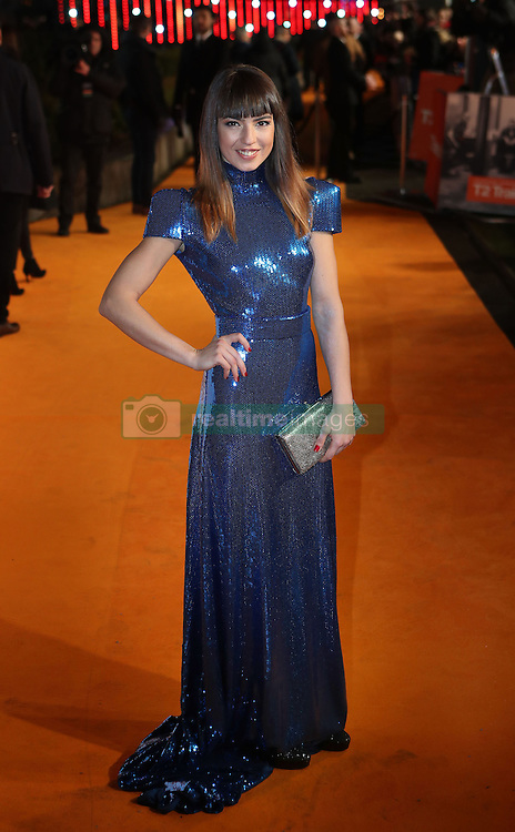Anjela Nedyalkova arriving at the world premiere of Trainspotting 2 at Cineworld in Edinburgh.