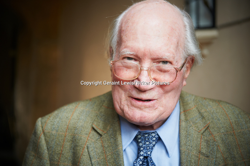 Alistair Horne, Historian and Biographer, writer of But What Did You Actually Do? at The Oxford Literary Festival at Christchurch College Oxford. Taken 24th March 2012<br /> <br /> Credit Geraint Lewis/Writer Pictures<br /> <br /> WORLD RIGHTS