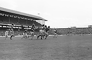 Players all chasing after the ball during the All Ireland Senior Gaelic Football Championship Final Dublin V Galway at Croke Park on the 22nd September 1974. Dublin 0-14 Galway 1-06.