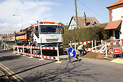 National Grid gas vehicle at works site, Aldeburgh, Suffolk