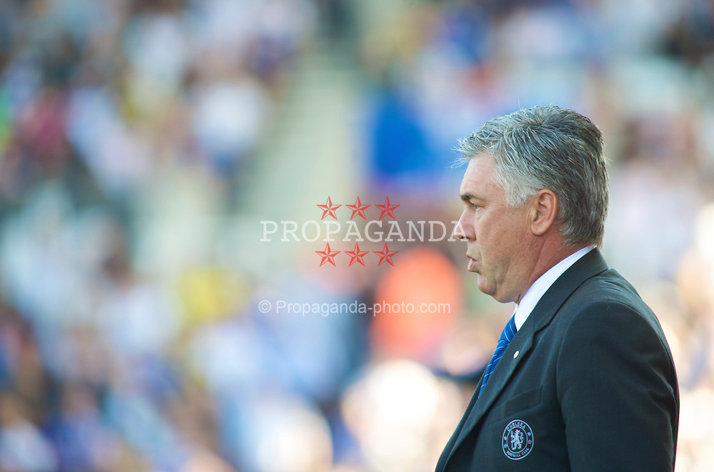 STOKE, ENGLAND - Saturday, September 12, 2009: Chelsea's Manager Carlo Ancelotti during the Premiership match against Stoke City at the Britannia Stadium. (Pic by Gareth Davies/Propaganda)