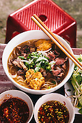 Bá My's bun bo hue. Hue, Vietnam