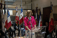 Colette Grivaud, Daughter of a resistant who was  interned and deported.<br /> The last convoy of 11 August 1944', 70th commemoration of the last deportees of the jail of Montluc.