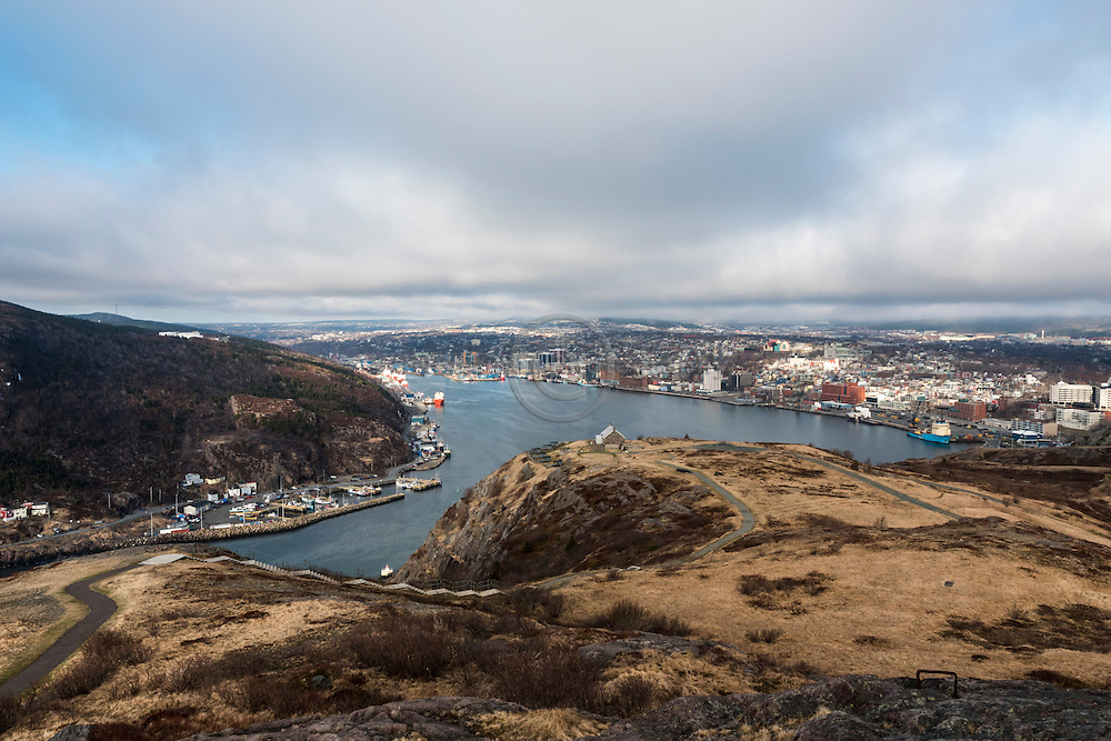 The city of St-John's from Signal Hill.  Newfoundland, Canada
