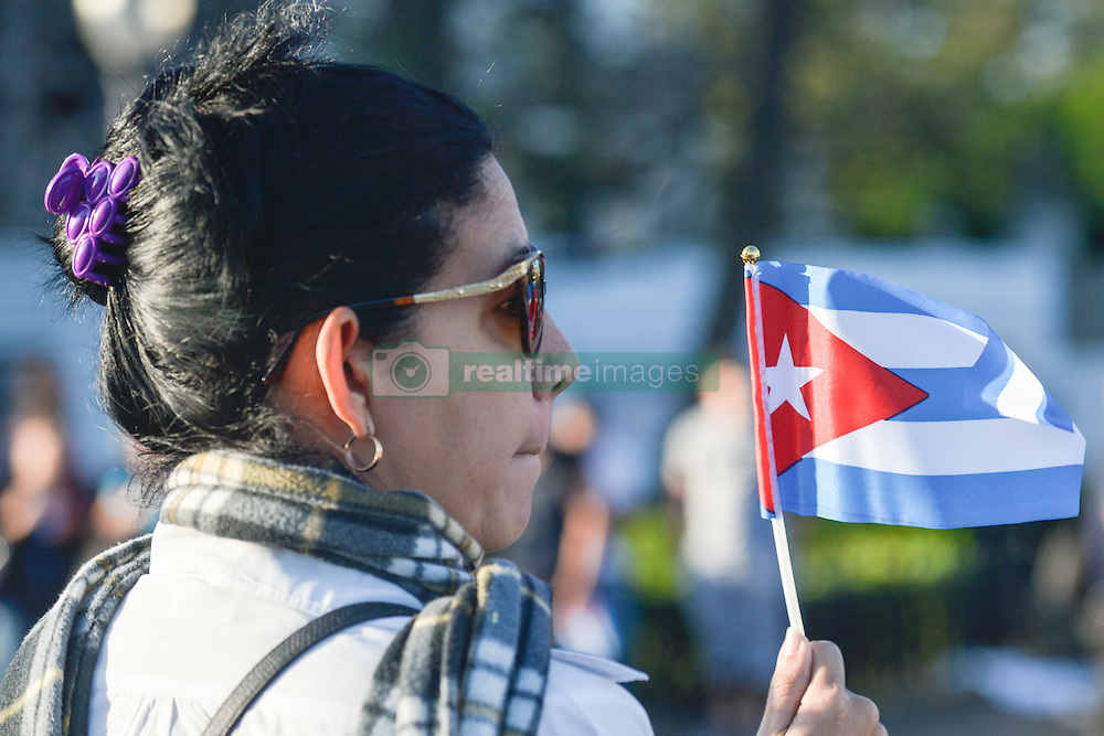 November 30, 2016 - Havana, Cuba - Thousands of Cubans lined the streets of Havana on Wednesday morning, to bid goodbye to Fidel Castro, as a caravan carrying his ashes began a four-day journey across the country to the eastern city of Santiago..Fidel Castro, the former Prime Minister and President of Cuba, who die on the late night of November 25, 2016, at age of 90. .On Wednesday, 30 November 2016, in Havana, Cuba. (Credit Image: © Artur Widak/NurPhoto via ZUMA Press)