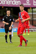 James Berrett during the Friendly match between York City and Sheffield Wednesday at Bootham Crescent, York, England on 18 July 2015. Photo by Simon Davies.
