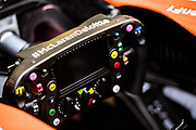 October 27-29, 2017: Mexican Grand Prix. Fernando Alonso (SPA), McLaren Honda,  MCL32 steering wheel