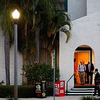 ST. PETERSBURG, FL -- November 2, 2010 -- Senate candidate Gov. Charlie Crist leaves after casting his ballot at the Coliseum in downtown St. Petersburg, Fla., early on the Mid Term Election Day on Tuesday, November 2, 2010.  Crist, who is running as an Independent, is in a three-way race for the seat against Republican Marco Rubio and Democrat Kendrick Meek.