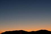 Sunset over the Blue Ridge Mountains, Charlottesville Virginia.