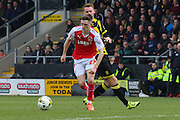 Fleetwood Town forward Ashley Hunter on the attack during the Sky Bet League 1 match between Burton Albion and Fleetwood Town at the Pirelli Stadium, Burton upon Trent, England on 12 March 2016. Photo by Aaron  Lupton.