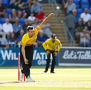 Gloucestershire's David Payne bowls<br /> <br /> Photographer Simon King/Replay Images<br /> <br /> Vitality Blast T20 - Round 8 - Glamorgan v Gloucestershire - Friday 3rd August 2018 - Sophia Gardens - Cardiff<br /> <br /> World Copyright &copy; Replay Images . All rights reserved. info@replayimages.co.uk - http://replayimages.co.uk