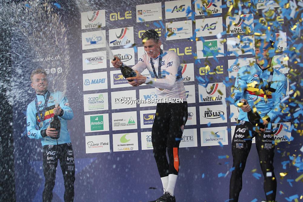 10-11-2019: Wielrennen: Europees Kampioenschap: Silvelle: Mathieu van der Poel wint het EK voor Eli Iserbyt en Laurens Sweeck