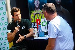 Aljaz Bedene Slovenian Tennis Player during ATP Press conference with Aljaz Bedene, on July 25th, 2019, in Ljubljansko kopalisce Kolezija, Ljubljana, Slovenia. Photo by Grega Valancic / Sportida