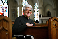 Kevin Bartram | Staff<br /> Father Joe DiSciacca is shown at St. Joseph's Catholic Church in Bristol on Monday, March 2, 2015.