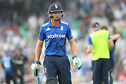 England Wicketkeeper Jos Buttler is out for 41 during the Royal London One Day International match between England and New Zealand at the Oval, London, United Kingdom on 12 June 2015. Photo by Phil Duncan.