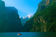 MEXICO, LANDSCAPE, CHIAPA Sumidero Canyon and Grijalva River