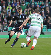 Dundee's Paul McGinn runs at Celtic's Anthony Stokes -  Celtic v Dundee, SPFL Premiership at Dens Park<br /> <br />  - &copy; David Young - www.davidyoungphoto.co.uk - email: davidyoungphoto@gmail.com