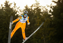 Nika Kriznar of Slovenia soaring through the air during 1st Round at Day 1 of World Cup Ski Jumping Ladies Ljubno 2019, on February 8, 2019 in Ljubno ob Savinji, Slovenia. Photo by Matic Ritonja / Sportida