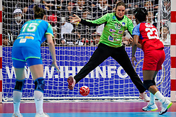 05-12-2019 JAP: Cuba - Slovenia, Kumamoto<br /> Fourth match groep A at 24th IHF Women's Handball World Championship. Slovenia win 39 - 26 of Cuba / Danielys Herranz Reyes #16 of Cuba