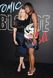 'Atomic Blonde' American Premiere held at the Theatre at ACE Hotel in Los Angeles. 24 Jul 2017 Pictured: Chelsea Handler and Aisha Tyler. Photo credit: Janet Gough / AFF-USA.COM / MEGA TheMegaAgency.com +1 888 505 6342