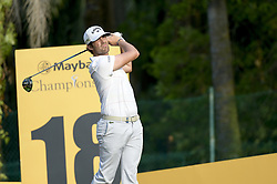 March 22, 2019 - Kuala Lumpur, Malaysia - Nacho Elvira of Spain hits his tee-shot on the tenth hole on Day Two of the Maybank Championship at at Saujana Golf and Country Club on March 22, 2019 in Kuala Lumpur, Malaysia. (Credit Image: © Chris Jung/NurPhoto via ZUMA Press)