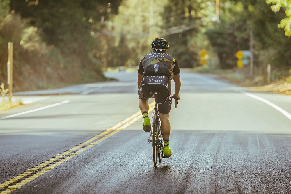 "Descent down 84 to Pescadero. ""Ride In The Redwoods"""