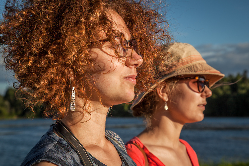 """Russian sisters Polina and Ksenia at Westchester Lagoon, Anchorage.  """"We are young professional women...and we have our entire life ahead of us!"""""""