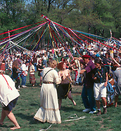 May Day celebration with a May Pole in Central Park