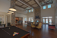 Interior image of the Clubhouse at the Reserve at Riverside Apartments by Jeffrey Sauers of Commercial Photographics