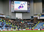 Celtic fans in the away section during the Ladbrokes Scottish Premiership match between Rangers and Celtic at Ibrox, Glasgow, Scotland on 29 December 2018.