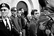 Birthplace of Benito Mussolini. Manifestation of the anniversary of the march on Rome.Gathering of fascist sympathizers before the burial crypt where Mussolini.