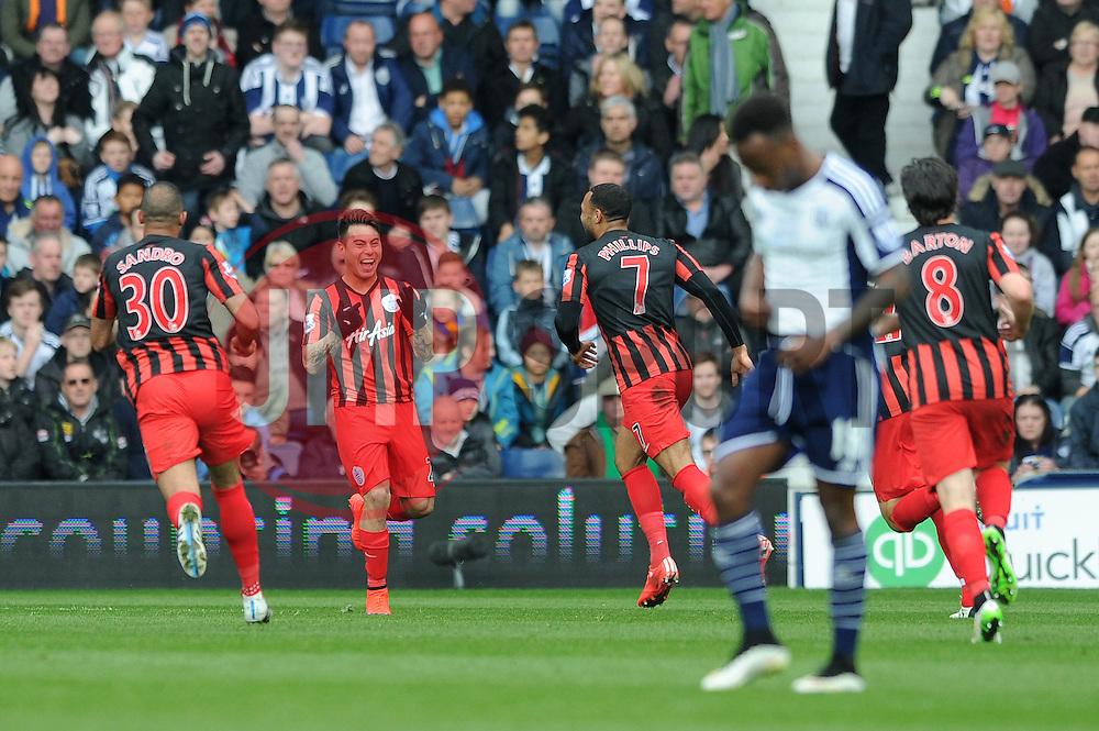 Queens Park Rangers' Eduardo Vargas celebrates his goal. - Photo mandatory by-line: Dougie Allward/JMP - Mobile: 07966 386802 - 04/04/2015 - SPORT - Football - West Bromwich - The Hawthorns - West Bromwich Albion v QPR - Barclays Premier League