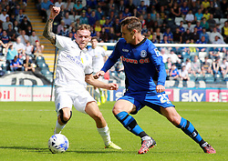Peterborough United's Jon Taylor in action with Rochdale's Michael Rose - Photo mandatory by-line: Joe Dent/JMP - Mobile: 07966 386802 09/08/2014 - SPORT - FOOTBALL - Rochdale - Spotland Stadium - Rochdale AFC v Peterborough United - Sky Bet League One - First game of the season