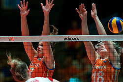 30-05-2019 NED: Volleyball Nations League Netherlands - Poland, Apeldoorn<br /> Juliët Lohuis #7 of Netherlands, Marrit Jasper #18 of Netherlands