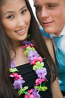 Couple Wearing Leis
