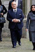 De koninklijke familie en tal van vrienden, bekenden en collega's van prins Friso zijn samengekomen in de Oude Kerk in Delft om de op 12 augustus overleden prins Friso te herdenken. <br /> <br /> The royal family and many friends, acquaintances and colleagues of Prince Friso are in the Old Church in Delft to commemorate the Prince who past away on August 12 2013.<br /> <br /> Op de foto / On the photo:  Prins El Hassan Bin Talal van Jordanie