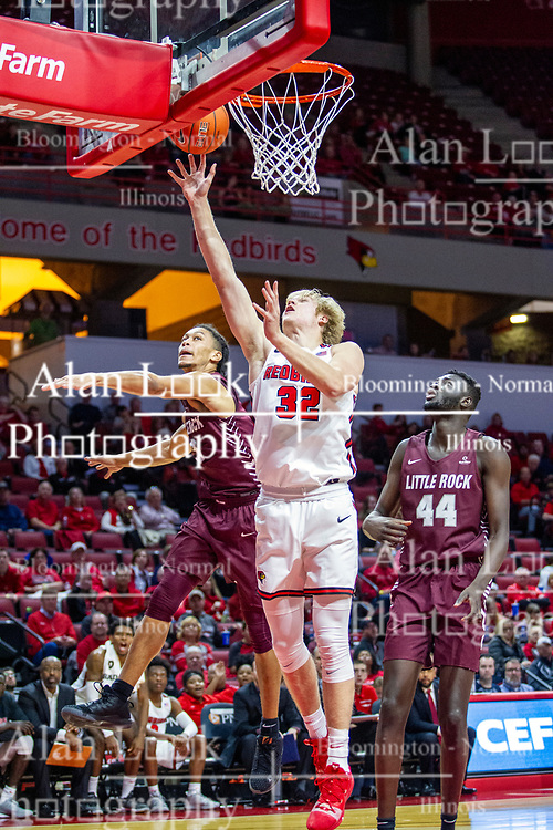 NORMAL, IL - November 10: Taylor Bruninga during a college basketball game between the ISU Redbirds and the Little Rock Trojans on November 10 2019 at Redbird Arena in Normal, IL. (Photo by Alan Look)