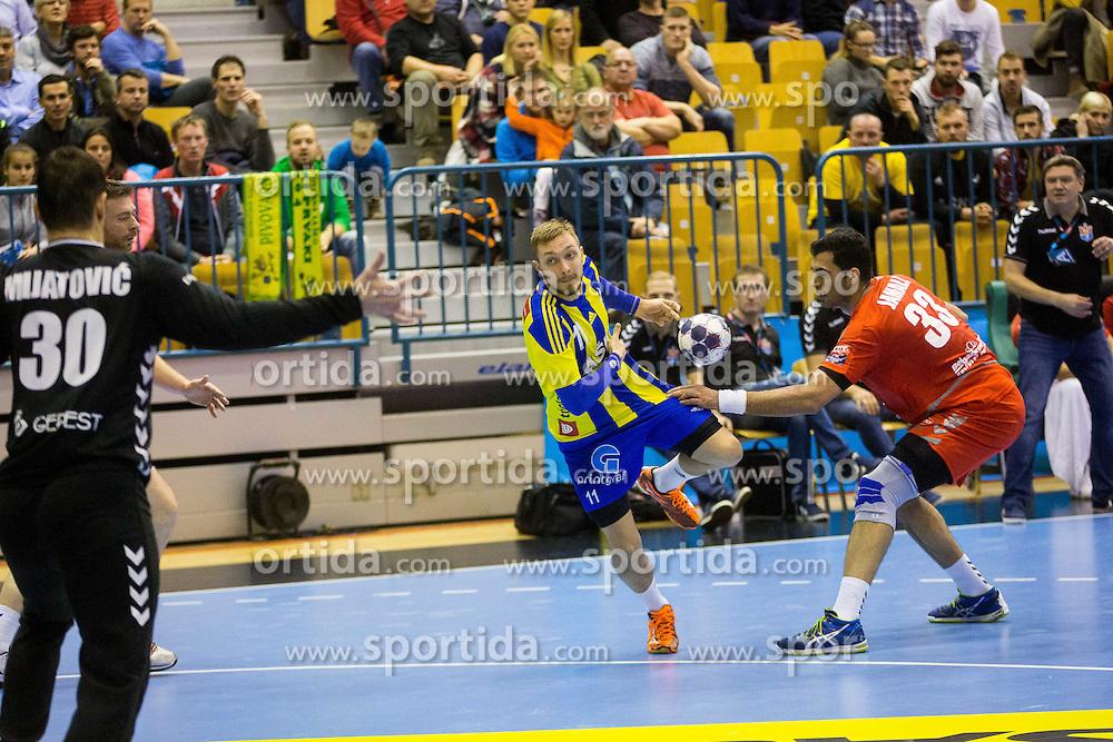 Gal Marguc of RK Celje Pivovarna Lasko during handball match between RK Celje Pivovarna Lasko (SLO) and HC Meshkov Brest (BLR) in Group phase of EHF Men's Champions League 2016/17, on November 27, 2016 in Arena Zlatorog, Celje, Slovenia. Photo by Ziga Zupan / Sportida
