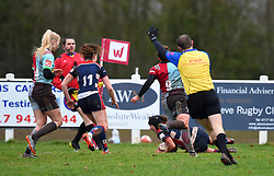 Clara Nielson of Bristol Ladies scores a try - Mandatory by-line: Paul Knight/JMP - 03/02/2018 - RUGBY - Cleve RFC - Bristol, England - Bristol Ladies v Harlequins Ladies - Tyrrells Premier 15s