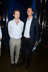 Left to right, LORD ELCHO and OTIS FERRY at the launch of Dim Sum Sundays by Hakkasan at Hakkasan, Hanway Place, London on 8th September 2013.