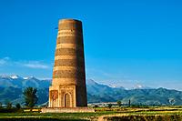 Kirghizistan, province de Chuy, la tour de Bourana sur le site archéologique de l'ancienne ville de Balasagoun  //  Kyrgyzstan, Chuy province, Burana tower,  ancien city of Balasagun