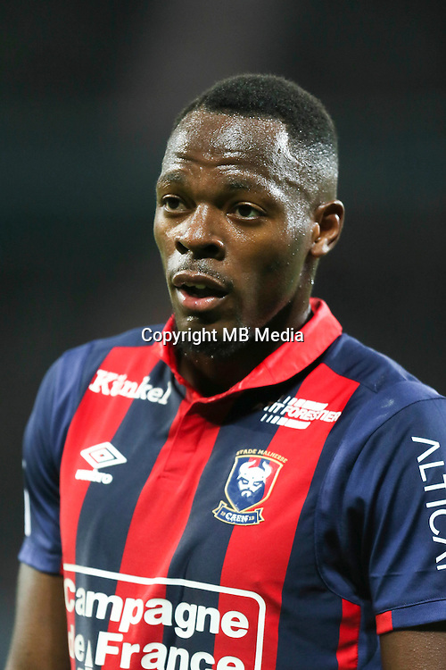 Herve Bazile of Caen during the Ligue 1 match between SM Caen and Paris Saint Germain at Stade Michel D'Ornano on September 16, 2016 in Caen, France. (Photo by Vincent Michel/Icon Sport)