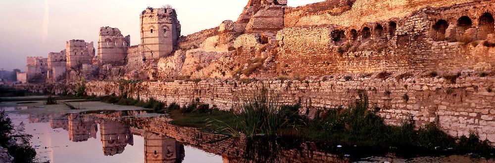 TURKEY, ISTANBUL, BYZANTINE city walls built by Theodosius