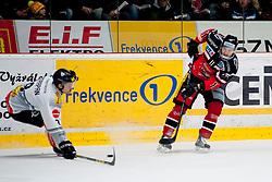 26.02.2016, Ice Rink, Znojmo, CZE, EBEL, HC Orli Znojmo vs Dornbirner Eishockey Club, Viertelfinale, 1. Spiel, im Bild v.l. Marek Zagrapan (Dornbirner Eishockey Club), Branislav Rehus (HC Orli Znojmo) // during the Erste Bank Icehockey League 1st quarterfinal match between HC Orli Znojmo and Dornbirner Eishockey Club at the Ice Rink in Znojmo, Czech Republic on 2016/02/26. EXPA Pictures © 2016, PhotoCredit: EXPA/ Rostislav Pfeffer