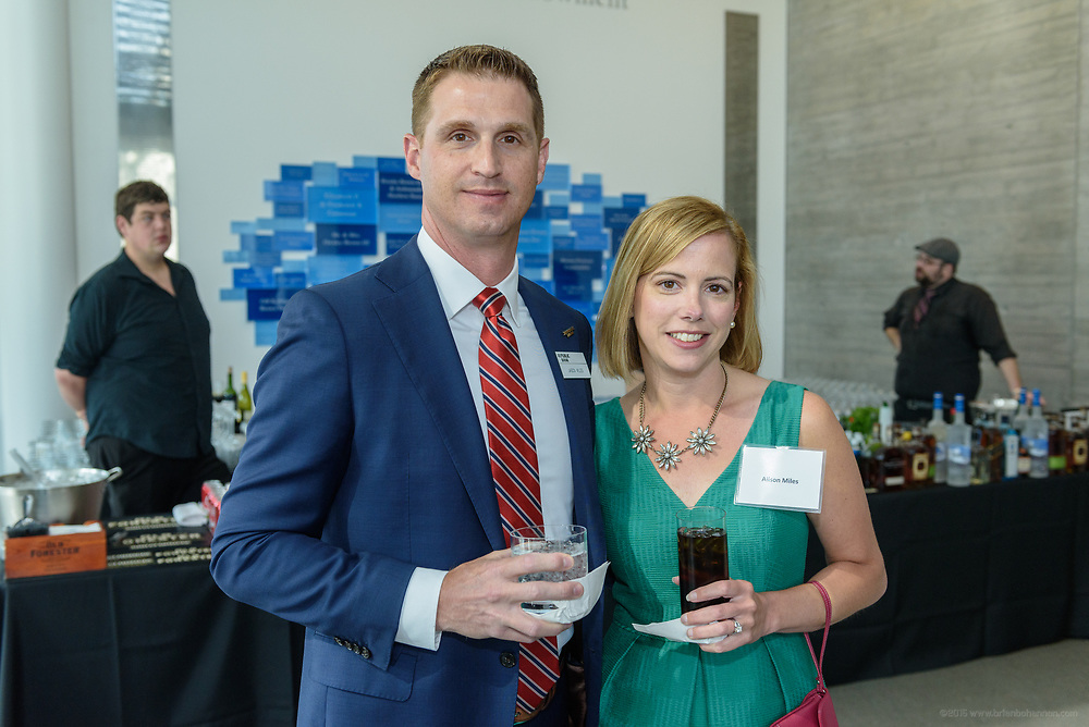 Jason and Alison Miles at the 10-year anniversary celebration of Republic Bank's Private Banking and Business Banking divisions Wednesday, May 17, 2017, at the Speed Art Museum in Louisville, Ky. (Photo by Brian Bohannon)